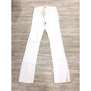 New J Brand Maternity Boot Cut White Jeans SZ:25*